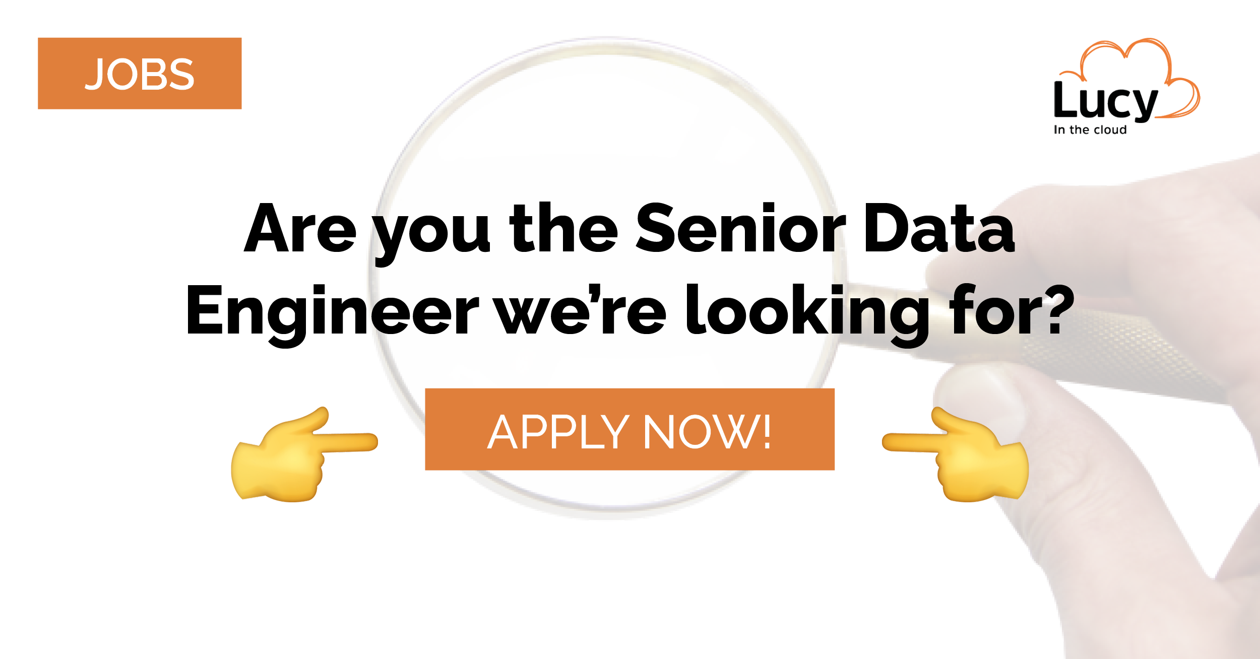 senior data engineer job at lucy in the cloud
